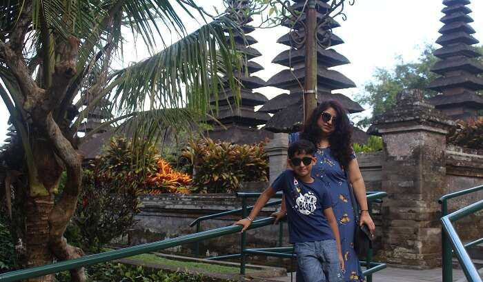 visited to ubud temple with kid