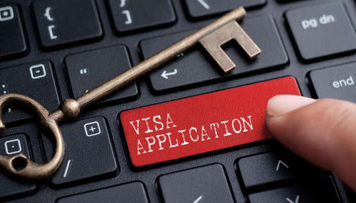 Processing of visa application