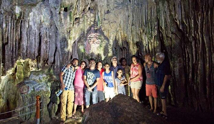 wonderful time in caves with family