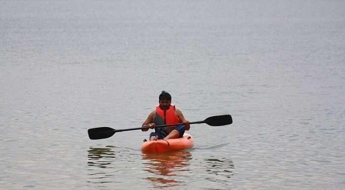 kayaking in kotepally resevoir