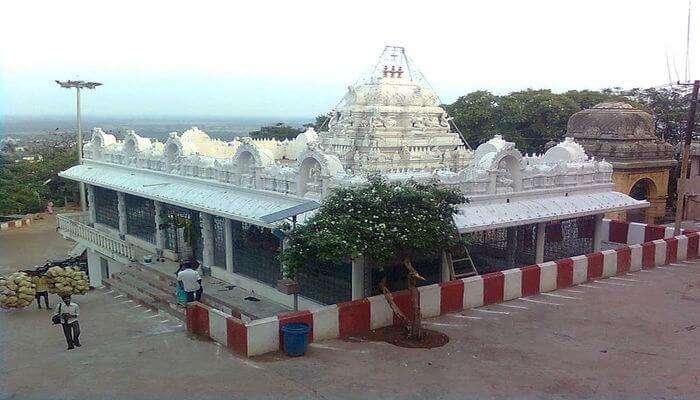 View of Annavaram Temple