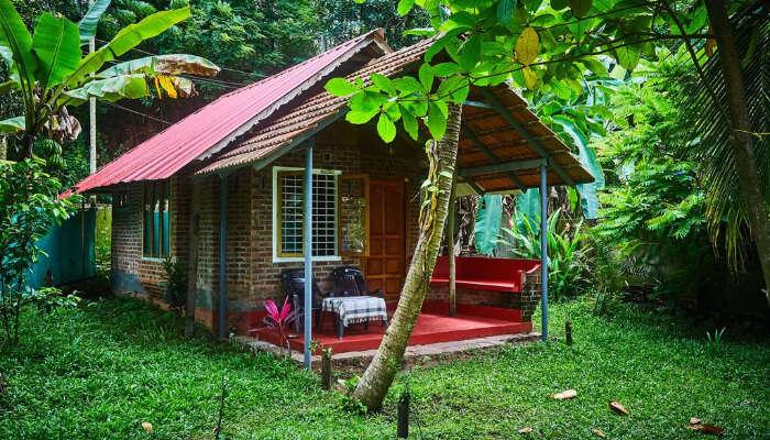 View of Ashtamudi Villa Resort