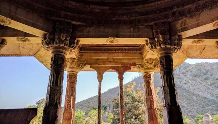 Inside view of bhangarh fort