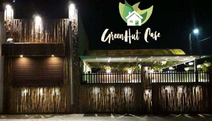 Cafe Green Hut Front Gate