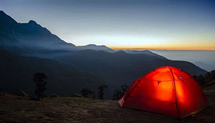 Camping Under Sky