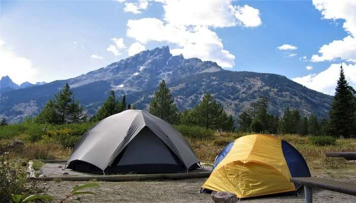 camping in hills