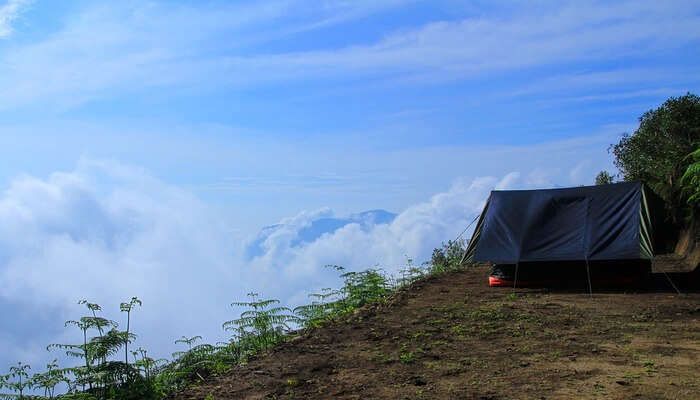 camping in clouds