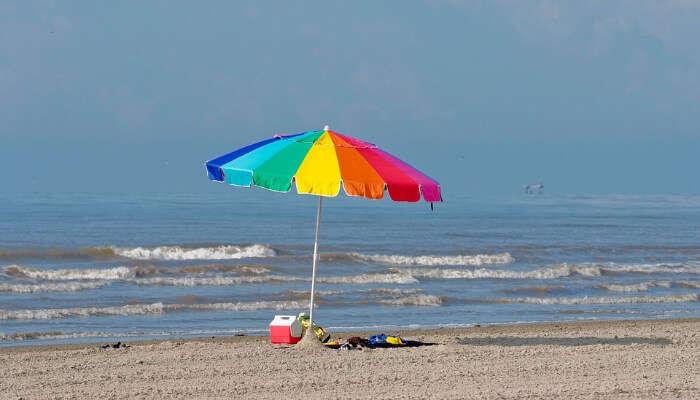 Umbrella in a Beach