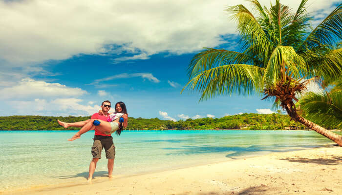 Couple Romancing in Fiji Island