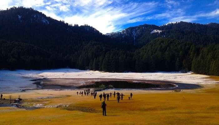 Frozen Khajjiar Lake