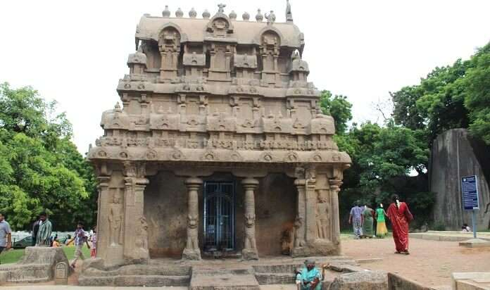 An architectural marvel belonging to the Pallava dynasty