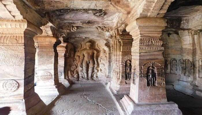 Hike Uphill To The Jain Caves