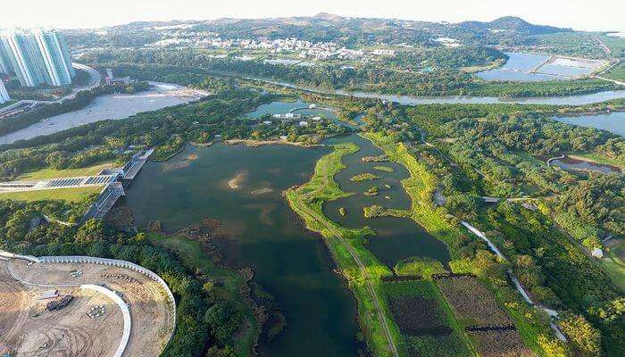 Sky View Of Hong Kong Wetland Park