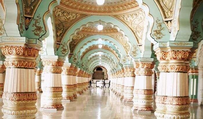 beautiful interior of palace