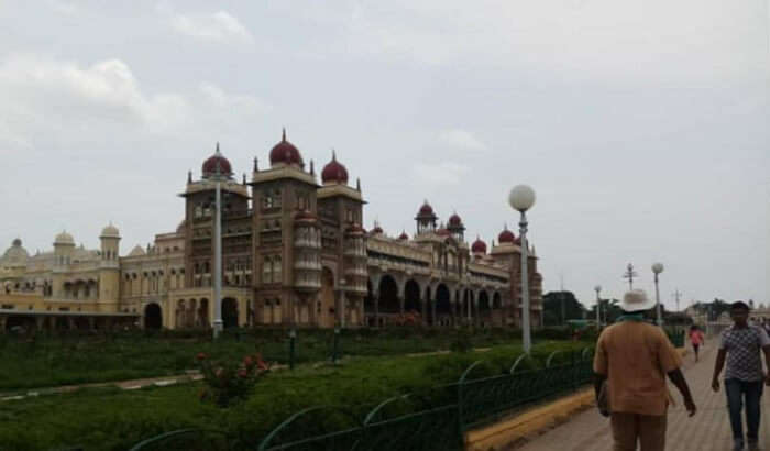 visited to the royal palaces in Mysore
