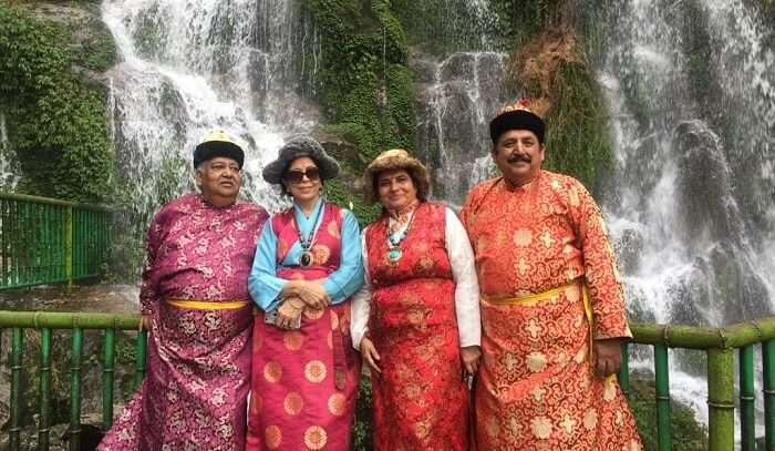 in a traditional attire of Sikkim