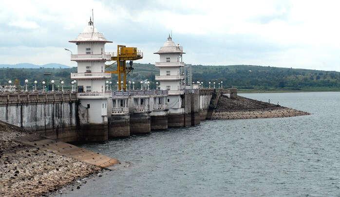 Kabini Dam is an eye-catching structure