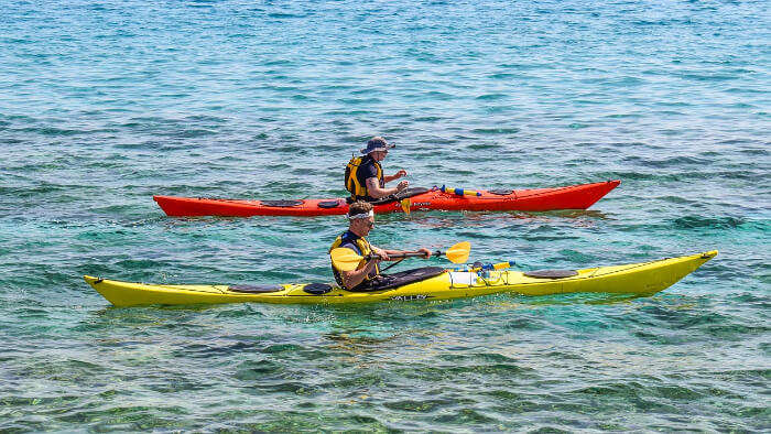 Kayaking in Beach