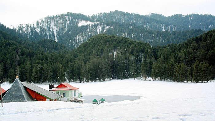 Beautiful Snowfall in Himachal