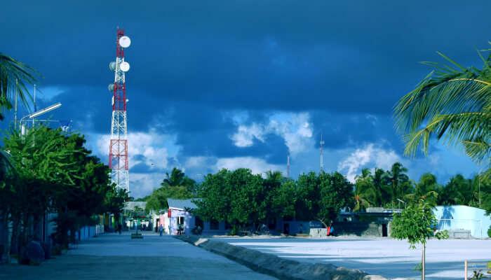 view of maafushi town