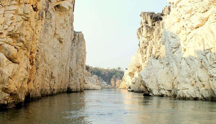 River between marble rocks