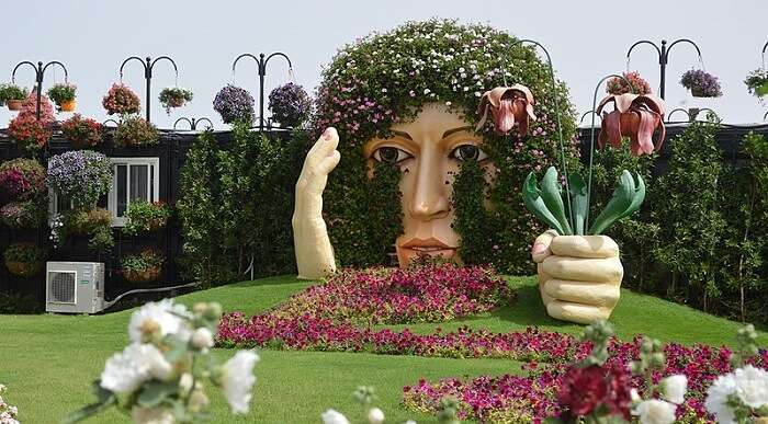 Miracle Garden is the biggest and most beautiful flower garden