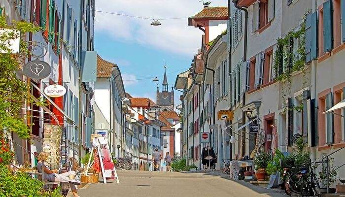 Old Town In Basel