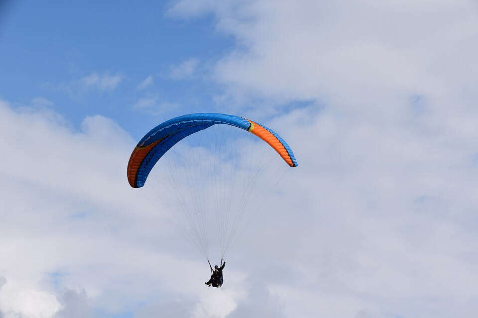 view of paragliding