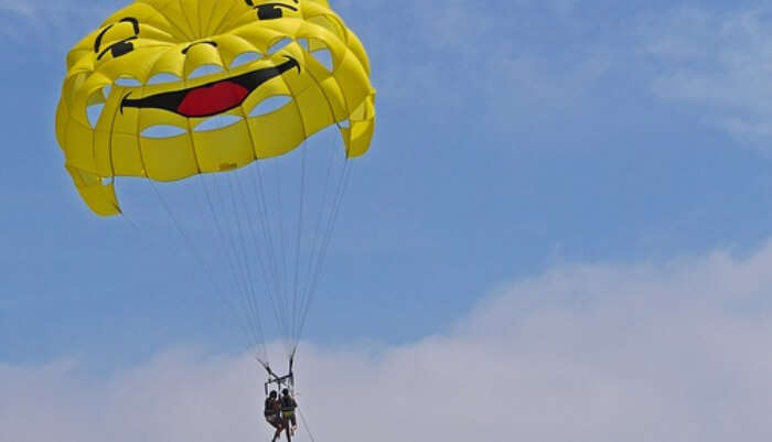 Parasailing in Open Sky