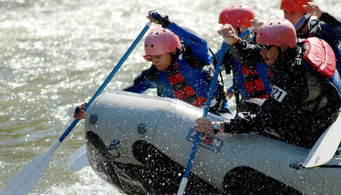 River Rafting in Crystal Clear Water