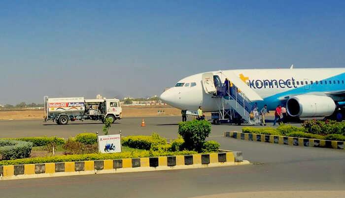 Aeroplane on the runway