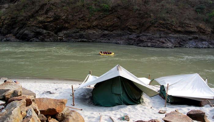 Camping area in Uttarakhand