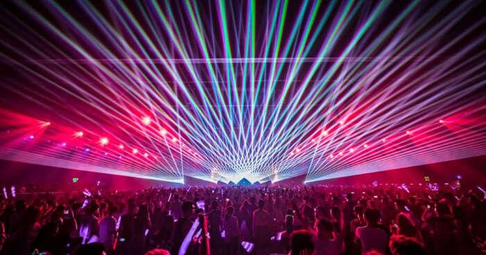 Light show in Music Festival