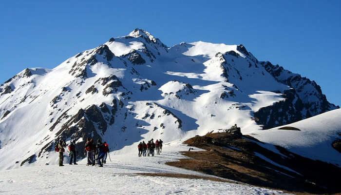 Snowfall and Mountain