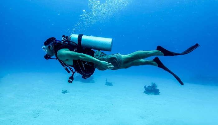 Scuba Diving in Sea