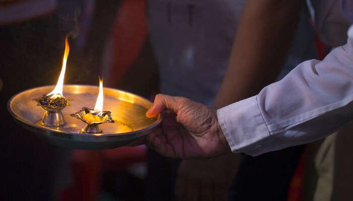 A prayer thali