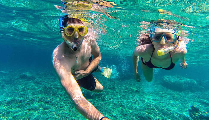 Couple Enjoy Snorkelling in Phuket
