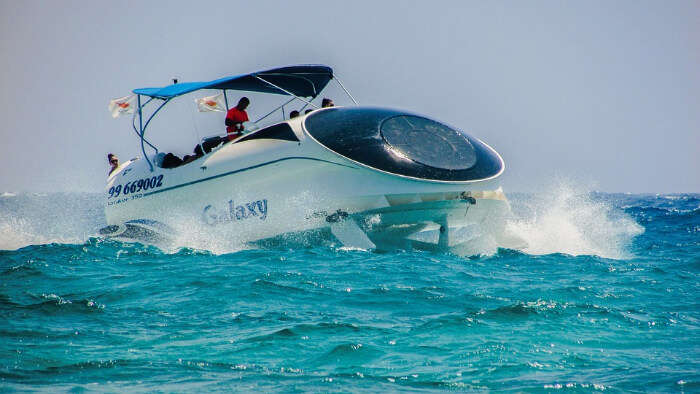 Speed Boating in Crystal Blue Waters
