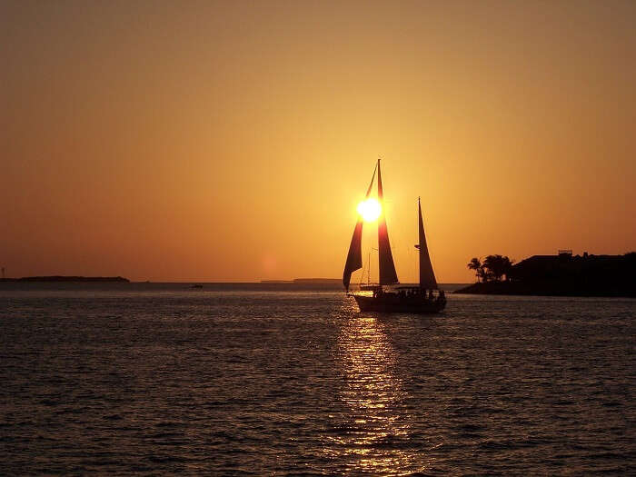 Watch sunset in Key West on a sail