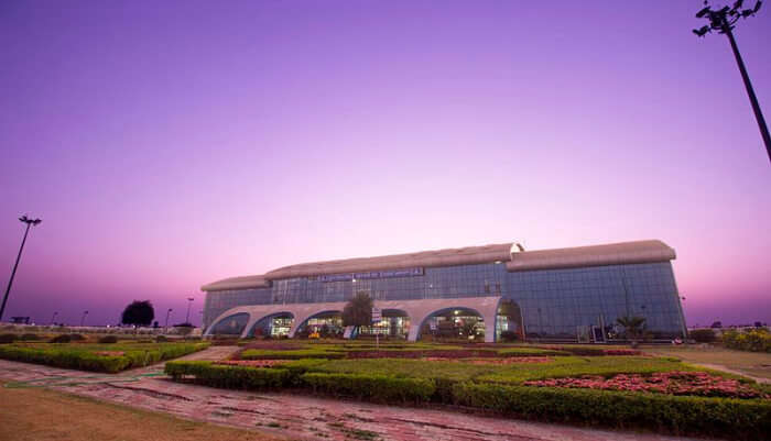 Surat airport with beautiful view