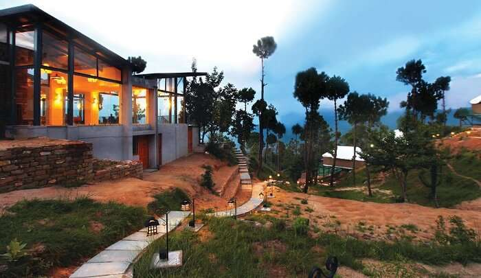 an eco-resort in the Himalayas