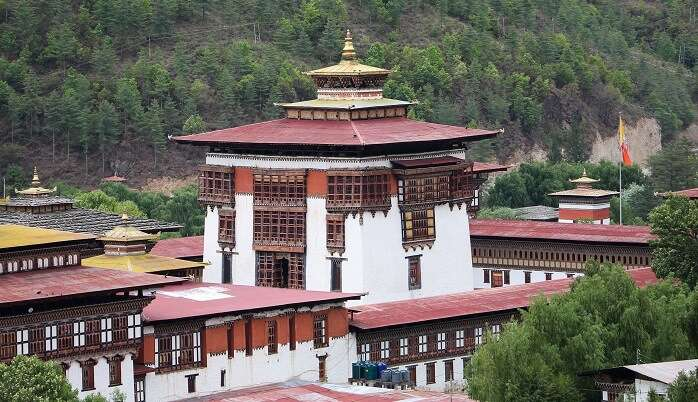 magnificent Hindu temple in Bhutan