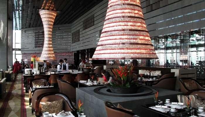 The Ritz Carlton Bar and Lounge  In Hong Kong