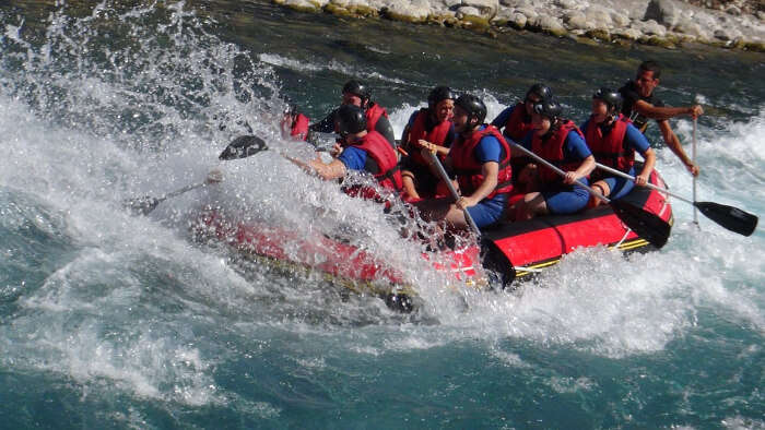 Rafting in White Water
