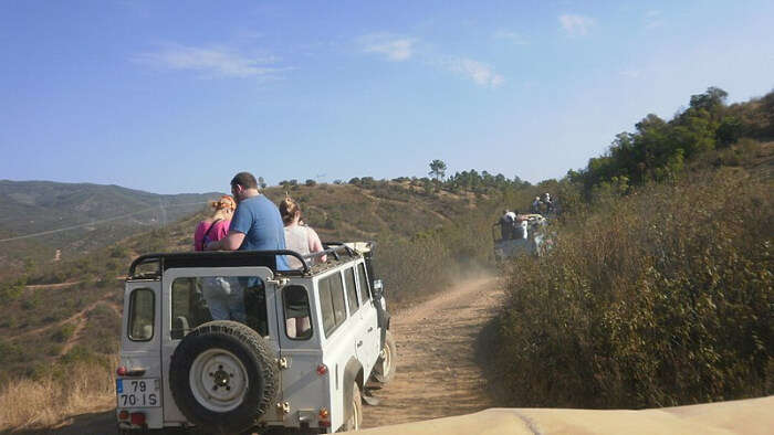 People On Jeep Safari