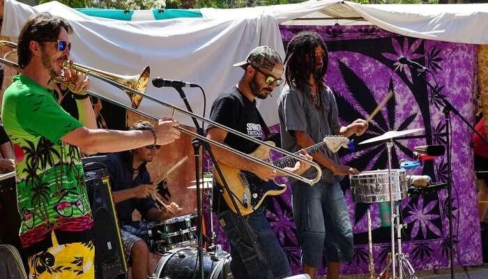 hippie music fest