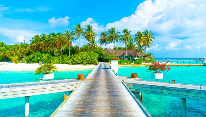 beautiful view of maldives beach