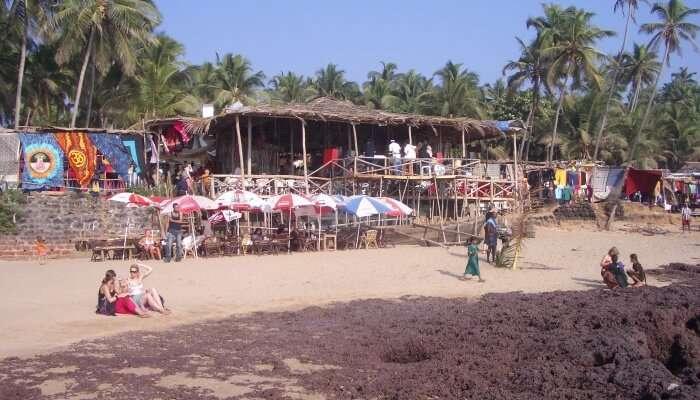 flea market on a beach
