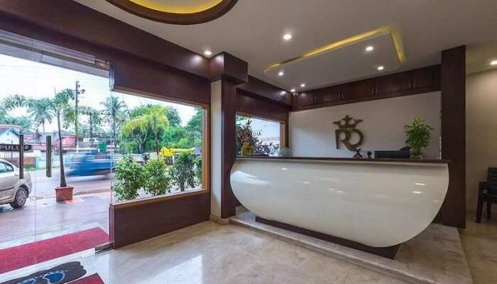 reception area of a hotel