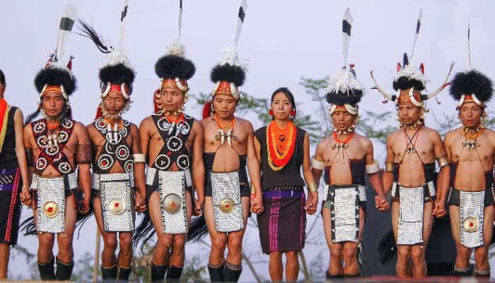 Festival of Konyak tribe
